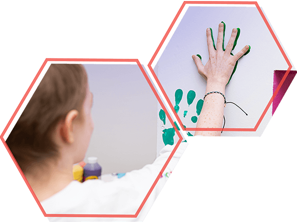 Clinical Trials - Girl Painting with Hand