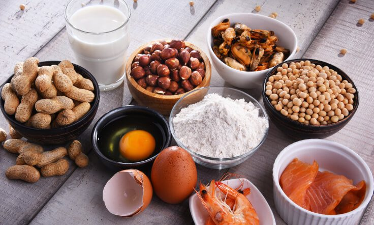 group of common food allergens